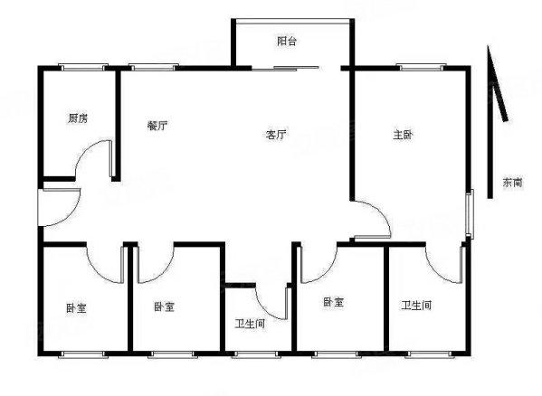 雍和园高层南北通豪装四房,视野采光一级棒,满两年无 税