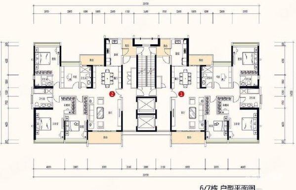 金山谷尚层大平层 南向四房 2梯2户豪宅 即买即住 急售笋