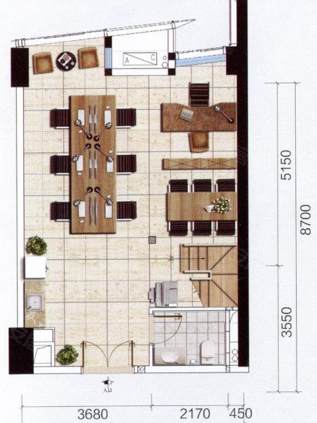 雅居乐汇通国际公寓户型图