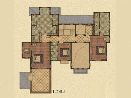 绿城玫瑰园n33户型,绿城玫瑰园别墅约824.00平米户型