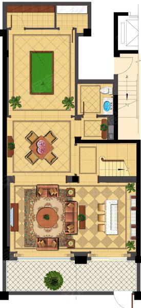 绿城上海御园d2,绿城上海御园别墅约201.00平米户型图