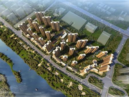 项目分南北两区四期开发,一期共计7栋楼4栋小高层3栋高层。